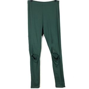 Rue21 | Green High Rise Knee Cut Out Soft Leggings